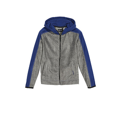 Fleece Jacke mit PlusMinus Rückenprint Sweatjacken grau Gr. 146/152 Jungen Kinder