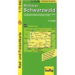 Mittlerer Schwarzwald 1 : 75 000