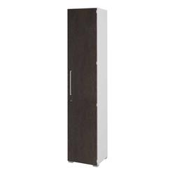 Abschließbarer Aktenschrank in Braun Weiß 40 cm