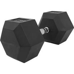 Hexagon Kurzhantel aus Gummi 42,5kg
