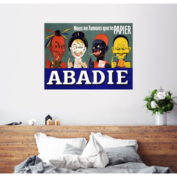 Posterlounge Wandbild, Abadie – Wir rauchen nur Papier (Französisch) 90 cm x 70 cm