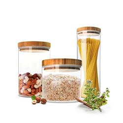Sendez Vorratsdose 3 Vorratsdosen Set mit Deckel Vorratsbehälter Vorratsdose Vorratsgläser aus Glas