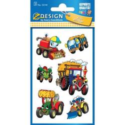 Sticker 76x120mm Papier 3 Bogen Motiv Traktoren
