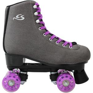 Cox Swain Kinder Rollschuhe -JUMAH- Rollerskates- ABEC5, Colour: Dark Grey, Size: 38