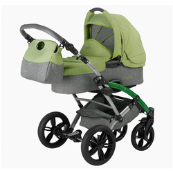 Knorrbaby Kombi-Kinderwagen Voletto Happy Colour, grau-hellgrün, Made in Europe