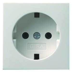 Gira 092027 Abdeckung für SCHUKO-Steckdose 16 A 250 V~, System 55, reinweiß seidenmatt