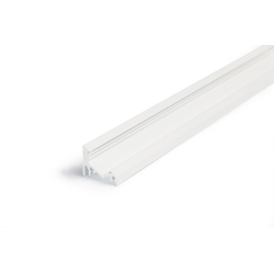LED Profil TYP C weiss, LED Eckprofil / Unterbauprofil / Aluleiste für max. 10mm breite LED Streifen