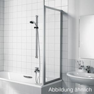 Kermi Vario 2000 Seitenwand für Badewannenabtrennung B: 68 H: 140 cm Kunstglas kerolan Perl / silber mattglanz V2TWD0751412K