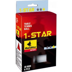 Bandito Tischtennisbälle 1-Star - 6 Stück - weiß