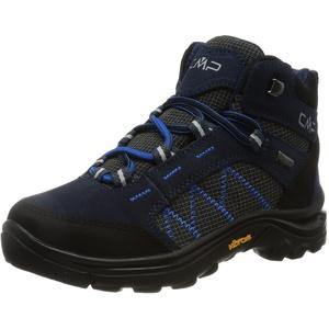 CMP unisex child 2.0 Kids Thiamat Mid 2 0 Trekking Shoe Wp, Black Blue, 40 EU
