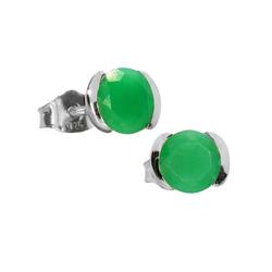 Adelia´s Paar Ohrhänger Chrysopras Ohrstecker Ohrringe 925 Silber