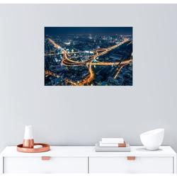 Posterlounge Wandbild, Luftaufnahme von Bangkok bei Nacht 91 cm x 61 cm