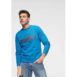 TOMMY JEANS Sweatshirt TJM CIRCULAR CREW blau Herren Sweatshirts -jacken