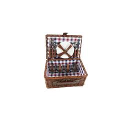 Neuetischkultur Picknickkorb Picknickkorb für 4 Personen (21 Stück), Picknickkorb blau