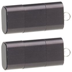 2er-Set Mini-Cardreader & USB-Stick für microSD bis 128 GB, USB A & C