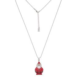 leslii Halskette mit Weihnachtsmann-Anhänger rot