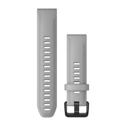QuickFit 20-Uhrenarmbänder Graues Silikon