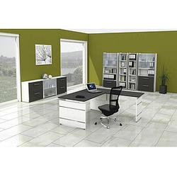 FORM 4 Büromöbel Set, 1 Arbeitsplatz 450x550