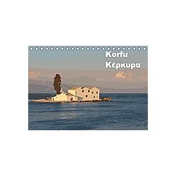 Korfu - KerkiraAT-Version (Tischkalender 2021 DIN A5 quer) - Kalender
