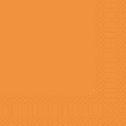 1000 Duni Servietten, orange, 33 x 33 cm, 3-lagig