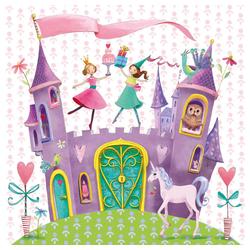PPD Papierserviette Princess Castle 20 Stück 33 cm