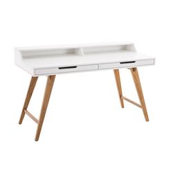 CLP Schreibtisch Eaton 110 cm, mit Eichenholzgestell
