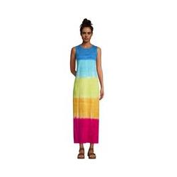 Maxi-Strandkleid Gemustert, Damen, Größe: S Normal, Multi, Baumwolle, by Lands' End, Regenbogen Ombré - S - Regenbogen Ombré