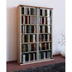 "VCM CD-Regal CD / DVD - Regal ""Galerie"" braun"