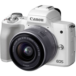 Canon EOS M50 EF-M 15-45 Kit Systemkamera EF-M 15-45mm Gehäuse (Body), inkl. Akku, inkl. Standard-Z