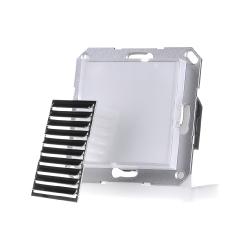 LED-Orientierungsleuchte 1,8W 2VA 1,2cd weiss