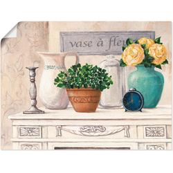 Artland Wandbild Vasen mit Blumen, Vasen & Töpfe (1 Stück) 60 cm x 45 cm