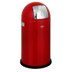 WESCO Pushboy Mülleimer 50,0 l rot