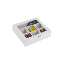 relaxdays Teebox Teebox aus Holz, Holz