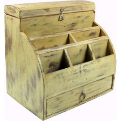 Guru-Shop Aufbewahrungsdose Vintage Schreibtisch Ordner, Schreibtisch..