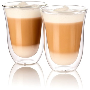 Cucina di Modena Kaffeegläser: Doppelwandige Latte-Macchiato-Gläser, 2er-Set (Thermogläser Kaffee)