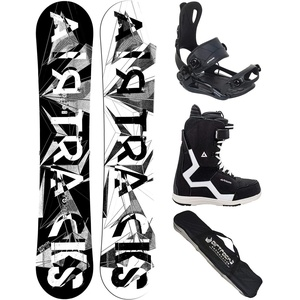 Airtracks Snowboard Set/Board BWF Wide 155 + Snowboard Bindung Master + Boots Strong QL 44 + Sb Bag