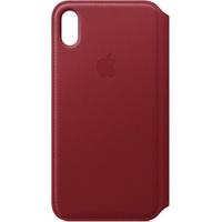 Apple iPhone XS Max Leder Folio rot