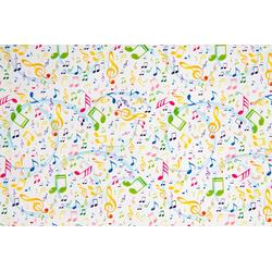 STAR Geschenkpapier, Geschenkpapier bunte Noten 70cm x 2m, Rolle