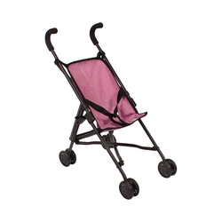 CHIC2000 Puppenbuggy Mini-Buggy Roma, Jeans pink