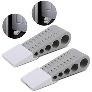 Sandiy 2 Stück Gummi Türstopper, Fensterstopper Keil mit Halter, Rutschfest auf Allen Oberflächen Fußboden, Höhe 0,5-3,5 cm