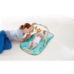 Hape Spielbogen Gym, mit Spieldecke bunt Kinder Holzspielzeug
