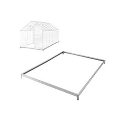 tectake Gewächshaus Fundament für Gewächshaus, 4.0 mm Wandstärke, Bodenanker 190.0 cm x 12.0 cm x 375.0 cm