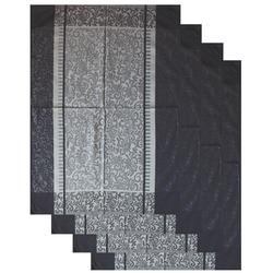 4 Stück Geschirrtücher, ca. 50 x 70 cm, 100% Baumwolle, Geschirrtuch, Trockentuch, grau gemustert