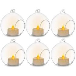 Favson Kerzenständer 6 Stücke Kreative Haus Hängende Glasball Romantische Kerzenständer Hochzeit Geburtstag Fest Deko