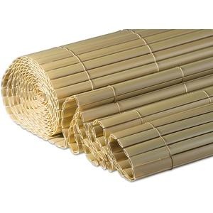 Windhager Sichtschutzmatte Presidio aus Kunststoff in Bambusoptik, Sichtschutz für Garten und Balkon, Sand-Beige, 150 x 300 cm, 06787