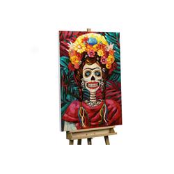 KUNSTLOFT Gemälde Prinzessin aus Mexiko, handgemaltes Bild auf Leinwand