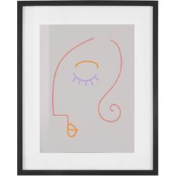 COUCH♥ Bild Gesichtet, Gesicht (1 Stück) lila 40 cm x 50 cm