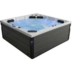 Komfortabler Aussenwhirlpool SPA Pool Schwimspas 225x225 grau