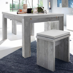 Esstisch, ausziehbar, Breite 160-260 cm grau Ausziehbare Esstische Tische Esstisch