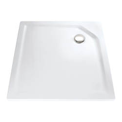 HSK Duschbecken Quadrat, super-flach 800 x 800 mm… pergamon